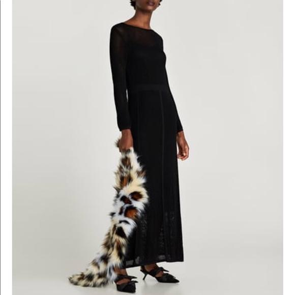 bf9b9174 Zara Dresses | Long Mesh Dress Teal | Poshmark
